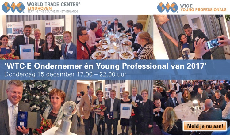 """Zakendiner """"WTC·E Ondernemer én Young Professional 2017"""""""